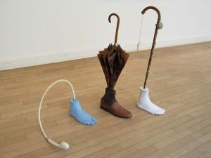 Walker, resin, found objets, Studiomove, Kolbe Museum, Berlin, 2010