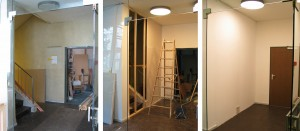 3 Zwischenstand, Building the gallery reception (view 1), 2003