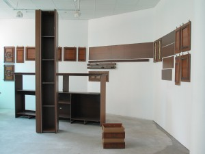 Gelsenkirchen, 2006, Wooden cupboard, approx. 3,1 x 5,5 x 9 m