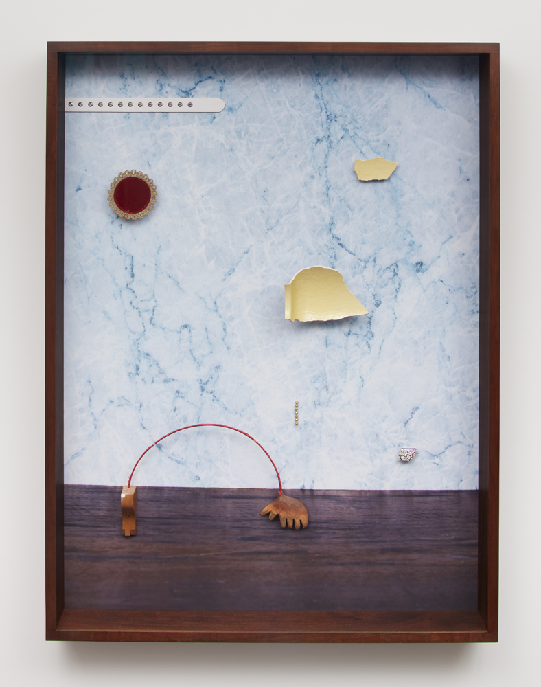 Glühm, 2021, Archival Pigment Print + found objects, 140 x 105 x 14 cm, unique