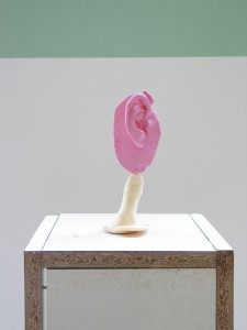 Das Hochohr, 2010, artist ear and thumb from resin, 16 x 6 x 5, Studiomove, Kolbe Museum, Berlin