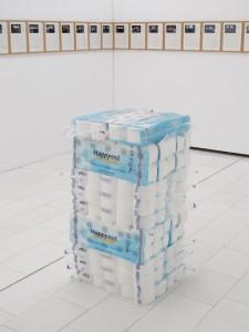 Happy End, 2011, toilet paper, 13 x 58 x 58 cm, Extradosis, Kunsthalle zu Kiel, 2011