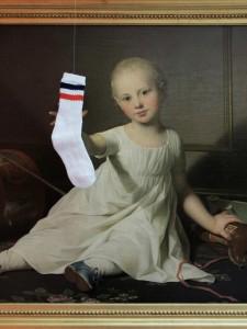 Hot Sock 80's, 2011, sock, 27 x 7 cm, , Extradosis, Kunsthalle zu Kiel, 2011
