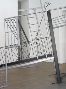 1 Doppelbett, 2009, found objects, 345 x 340 x 350 cm