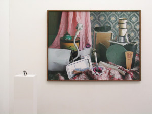 2  Exhibitionview mit Sockel to go und  Entensoli, 2009, C-Print, 113 x 150 cm IMG_0424