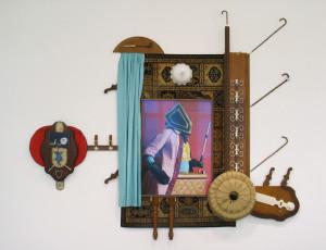Reginald Von Eckhelm, 2010, C_prints + Fundstücke vom Flohmarkt, ca. 4,1 x 3,8 x 0,2 m