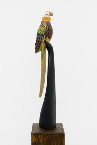 Papagon Bluko, 2016, found object & flacon, 95 x 20 x 20 cm__WEB1