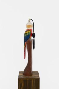 Papagon Bluko, 2016, found object & flacon with plinth, 164 x 22,5 x 22,5 cm_WEB1