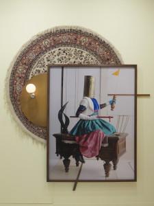 Jean D`Esk, 2018:19, C_Print + found Objects + light, 280 x 229 x 20 cm