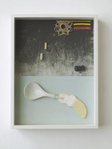 Kamba, 2020, Archival Inkjet Print + Found Objects, 40 x 30 x 5 cm©Brinkmann